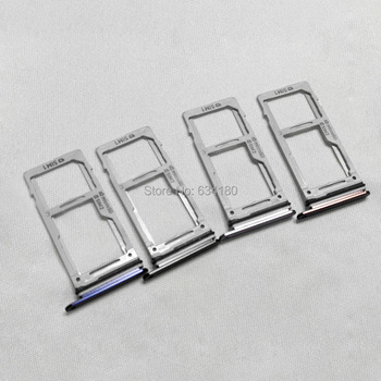 10pcs/lot SIM Card Tray Hold Single & Dual SIM Holder Replacement Parts For Samsung Galaxy Note 9