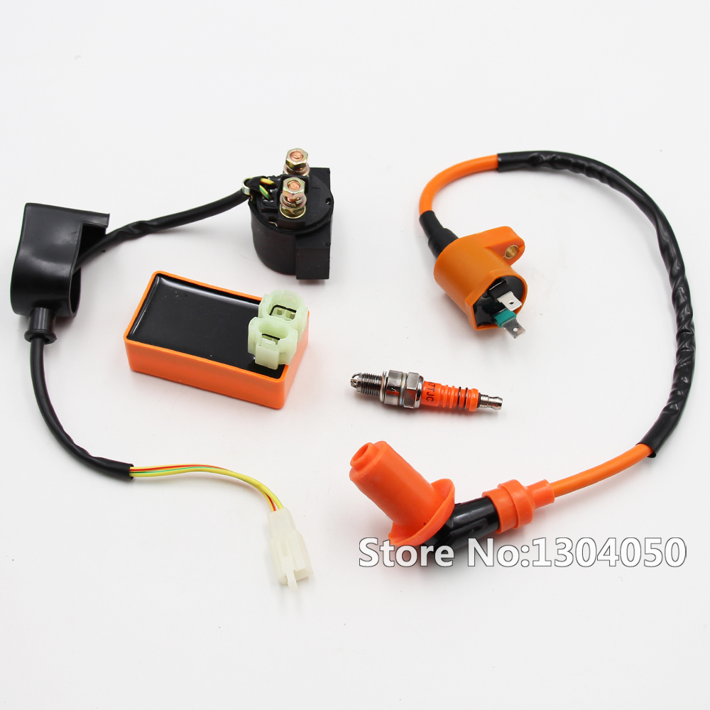 Performance Racing CDI Ignition Coil Spark Plug For Gy6 50 ... on