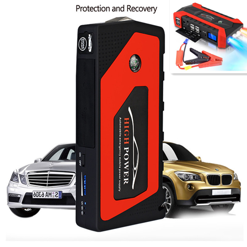 New Multifunction Jump Starter 69800mAh 12V 4USB 600A Portable Car Battery Booster Charger Booster Power Bank