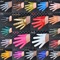 Женская мода половина палм полный finger PU кожаные перчатки женский ds хип-хоп конфеты цвет перчатки производительности