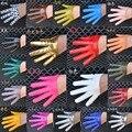 Moda mujer la mitad de palm finger completa guantes de cuero de LA PU femenina ds hip-hop guantes de rendimiento de color caramelo