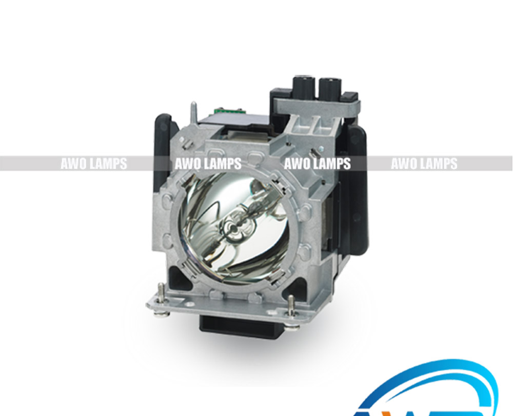 AWO Replacement Lamp ET-LAD310A with Housing for PANASONIC PT-DS100/PT-DS100XE/PT-DS110/PT-DS12K/PT-DS8500/PT-DW11K/PT-DW8300 pt ae1000 pt ae2000 pt ae3000 projector lamp bulb et lae1000 for panasonic high quality totally new