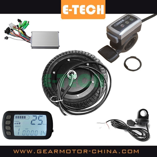 ETECH 8 inch electric scooter motor conversion kit with controller, throttle, brake and LCD display
