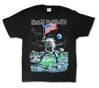 Summer Style Hip Hop T Shirt Tops Iron Maiden Moonwalker Final Frontier US Tour Mens Black