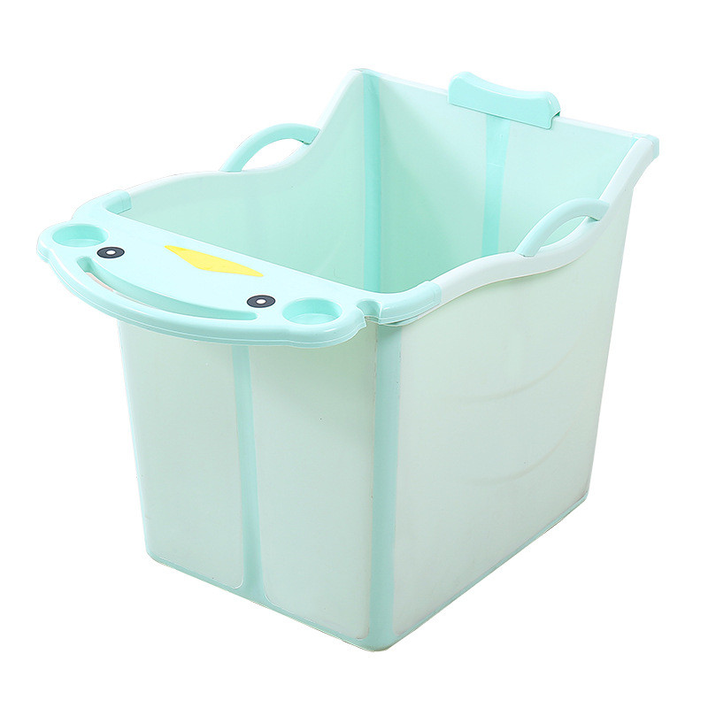 For 0-15 Years Old Baby Boy Large Size Thick Baby Foldable Bath Tub Kids Bath Barrel/Bucket for Baby Girls Can Sit Swimming Pool ...