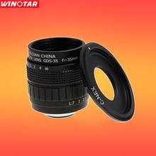 FUJIAN 35mm F1.7 CCTV Lentille + C-NEX Mont Anneau pour Sony E: NEX3 NEX-C3 NEX-F3 NEX5 NEX5N NEX5R NEX5T NEX6 NEX7 A6000 A6300 A6500