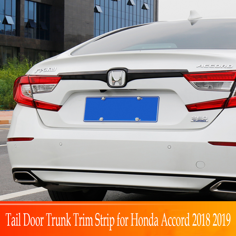 Car Tail Door Trunk Trim Strip for Honda Accord 2018 2019 lid cover High Quality ABS Chrome Car styling Exterior moldingCar Tail Door Trunk Trim Strip for Honda Accord 2018 2019 lid cover High Quality ABS Chrome Car styling Exterior molding