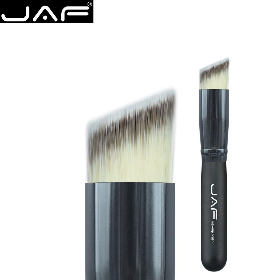 JAF Slant Top Prima Pelo Sintético Suave Crema de fundación Face powder Brush Pincel de Maquillaje cepillo de contorno