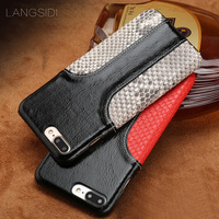 LANGSIDI Mobile Phone Shell For IPhone 7 Mobile Phone Case Advanced Custom Oil Wax Leather And