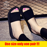NIDENGBAO 2018 Slippers Women Summer Beach Sandals Comfortable Shoes Outdoor Fashion Thin Model Models Slippers Limited