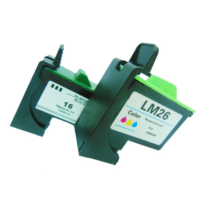Einkshop Para Lexmark Cartucho de Tinta Para Impressora Lexmark Z13 Z23 Z25 26 16 Z600 Z605 X1100 X1150 X1185 X1270 Z33 Z35 Z515 Z517 Z611 Z615