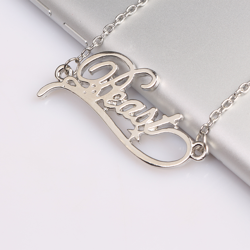 Beauty and the Beast Silver Metal Necklece Beast Letter Logo Pendant for Man and Woman F ...