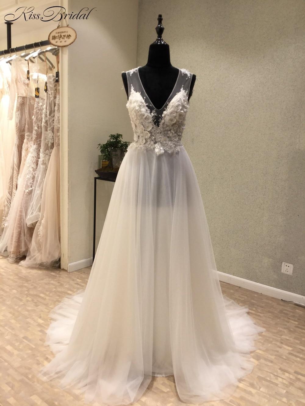 robe mariage Romantic Summer Beach Wedding Dress 2017 Sexy ...