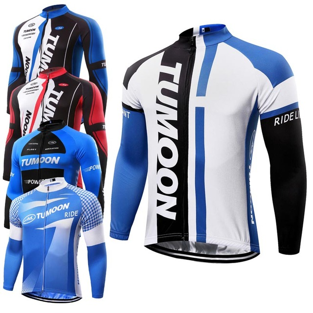 f9b11e4be TUMOOM Quick Dry Breathable Cycling Jersey Long sleeve summer spring Bicycle  Clothing Men s Women Racing Top sportswear