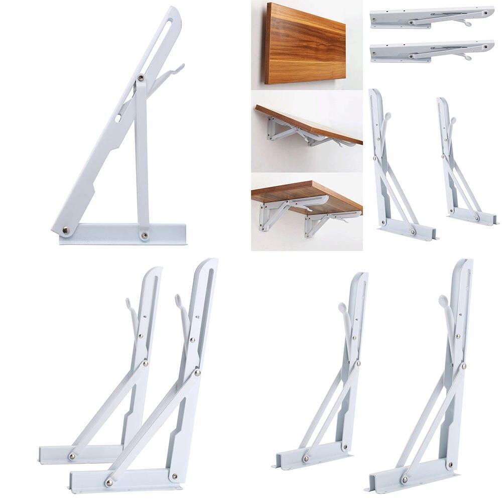 2X Shelf Support Bracket Folding Triangle Angle Wall Mounted Metal 30CMx15CM