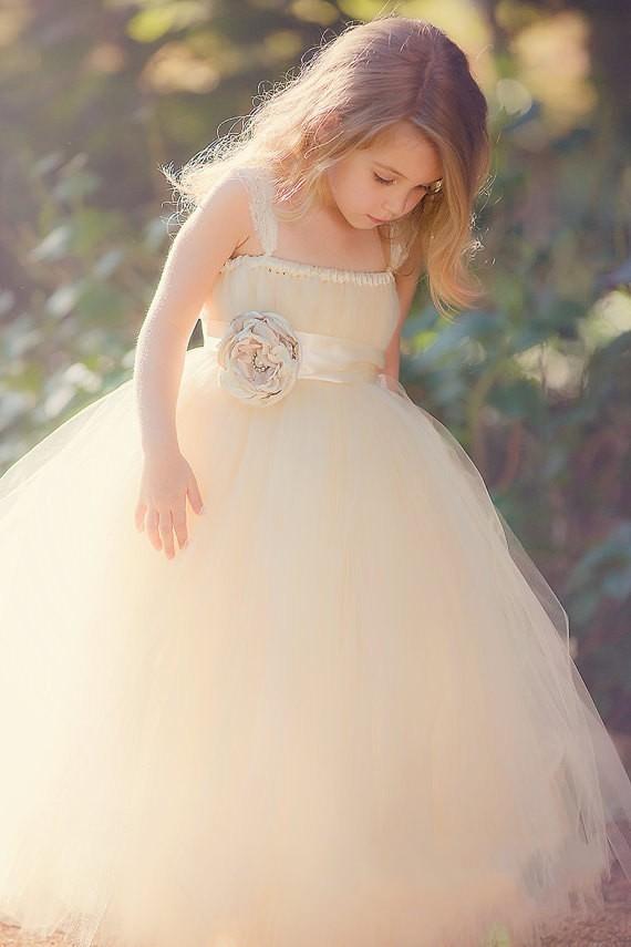 Sweetheart Strapless Tulle Flower Girl Dress 1