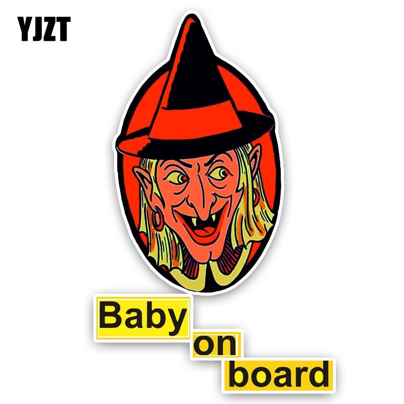 Yjzt 9.1*14.5 см интересные Предупреждение знак автомобиля Стикеры ребенок на борту Бампер Окно украшения C1-5666
