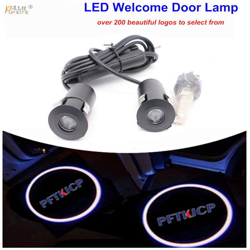 2pcs LED car laser projector Logo Ghost Shadow Light welcome Lamp Auto For ford focus 2 mondeo festiva door car accessories