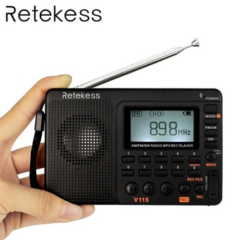 TIVDIO V-115 Radio FM/AM/SW World Band Receiver MP3 Player REC Recorder with Sleep Timer Black FM Radio Recorder F9205A front lip for lexus gs350