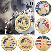 Wholesale New York City 9/11 24K Gold Plated Coin U.S. September 11th United We Stand Challenge For Collection