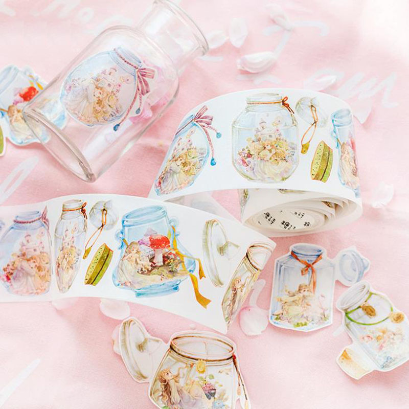 1 Pcs Magic world in the drift bottle mushroom Dreamer Girl Decorative Washi Tape DIY Planner Diary Scrapbooking Masking Tape canada in the world economy