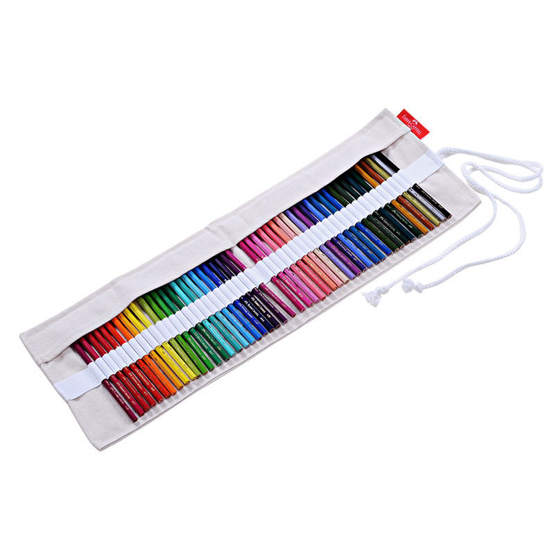 Faber Castell Colour Pencil Bag Canvas 50 Colores Sketch Pencil Pouch