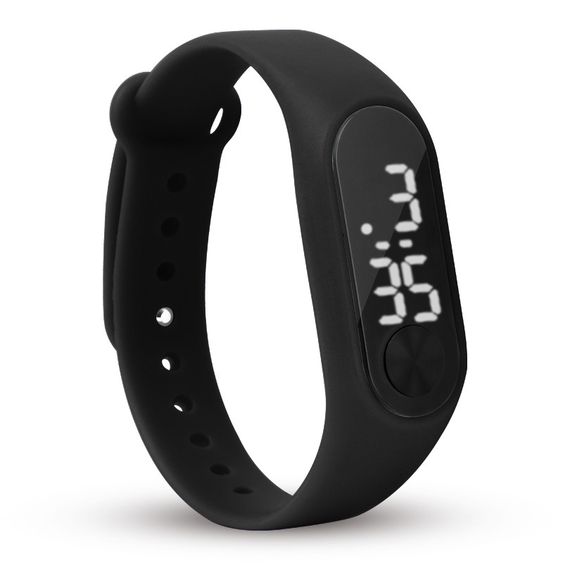 Fashion Men Sport Bracelet Watch White LED Electronic Digital Women Watches 12 Color Casual Silicone Wristwatches For Student