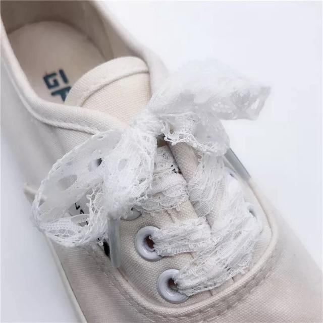 1 Pair New Lace Shoelaces Women's Casual Shoes Fashion Ribbon Shoelace Outdoor Sneakers Black Shoe laces 80CM/100CM/120CM