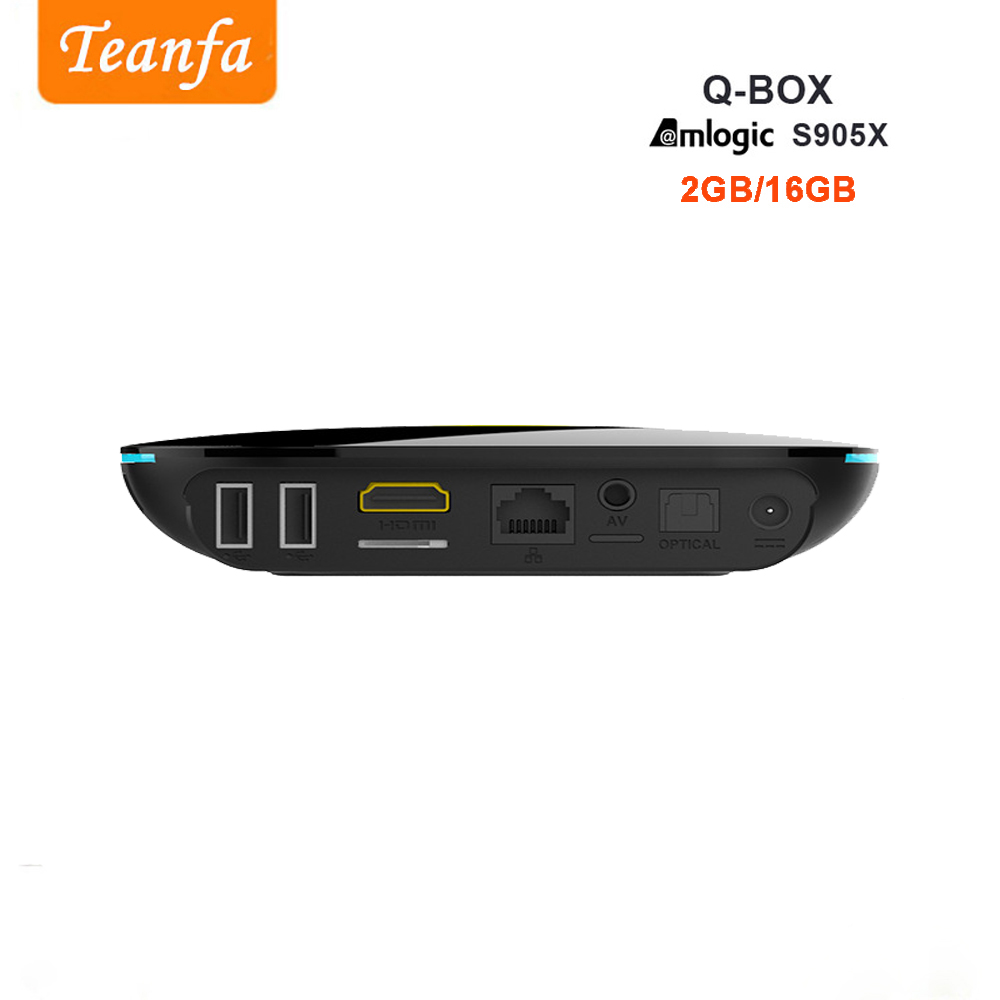 Teanfa Q BOX Set-top box 2G 16G Android 6.0 Smart TV Box S905X Quad - Accueil audio et vidéo - Photo 3