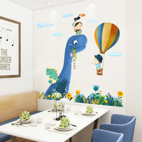 Cartoon Wall Stickers For Kids Rooms Cute little Dinosaur Wall Decal Animal Baby Nursery Animal Home Decor Art Removable