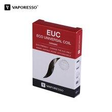 5pcs/pack Original Vaporesso Ceramic EUC Coil SS316L 0.5ohm 0.3ohm for Estoc/Target Pro/ORC/Gemini Tank ECO Universal coil vape