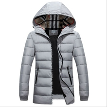 males's new prime quality winter jacket vogue cotton down jacket hooded wadded coat Size 4XL winter jacket males black plus dimension