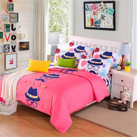 Comfortable Soft Red Beard Print Pattern Home Life Four Piece Quilt Cover Sheets Pillowcase Fashion Home Textile Products