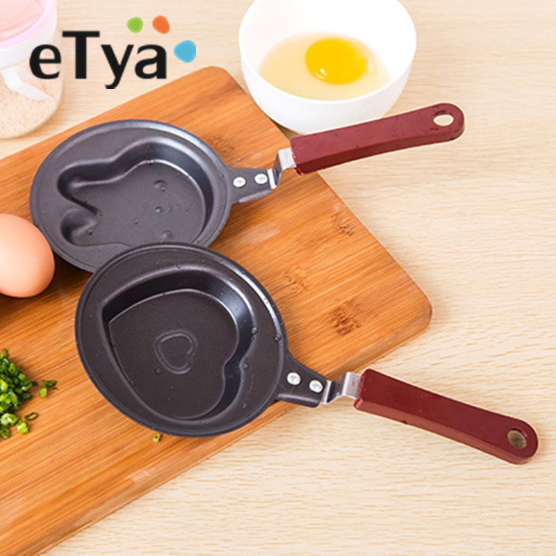 Mini Egg Frying Pan Kitchen Supplies Breakfast Love Omelette Pan Pancake Saucepan Heart Non-Stick Pot Molds Kitchen Accessories