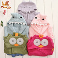 Monkids 2017 New Style Cute Cartoon Animal Hooded Bathrobe Baby Bath Towel Baby Towel Infant Baby Cloak Blanket Children