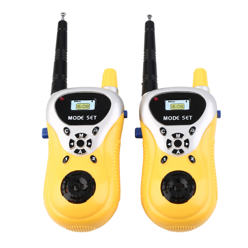 2pcs/lot Intercom Electronic Walkie Talkie Kids Child Mini Handheld Toys Portable Two-Way Radio Intercom Boys Girls Birthday xiaomi mjdjj01fy bluetooth 4 0 radio two way walkie talkie white