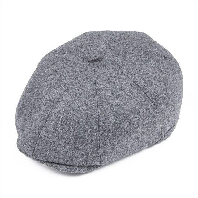 9a33cf5cdefd6 VOBOOM Grey Men s Cap Herringbone Tweed Wool Blend Newsboy Ivy Hat Gatsby  Caps Golf Cabbie Driving Hats 8 Panel Boina 111-in Newsboy Caps from  Apparel ...
