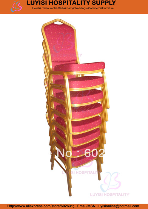 hot selling strong cheap Aluminum Hotel chair gold aluminum hotel chair