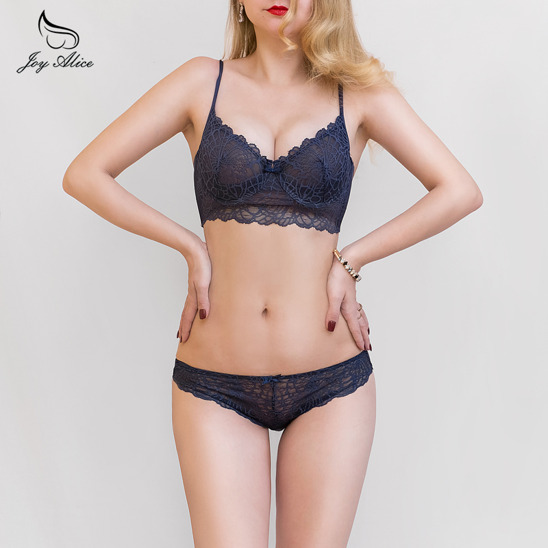 2018 new fashion B C D Cups Lace   Bra     Set   women's Underwear Women Lingerie   set   Panties transparent and thin   Bra   &   brief     Sets