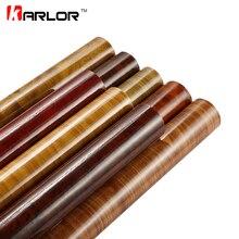 Película de vinilo de Pvc de grano de madera brillante, 30x100cm, pegatina de decoración interna para coche, envoltura impermeable, calcomanía de textura de grano de madera, estilismo para coche