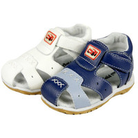 Free Shipping 2014 Cattle Genuine Leather Sandals Male Children Child Shoes Baby Sandals Beach Boys Girl