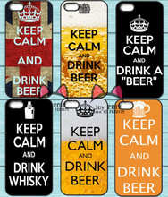 """""""Keep calm and Drink Beer"""" cases for iPhone 4S 5S SE 5C 6 6S 7 Plus & Sony Z2 Z3 Compact Z4 Z5 Mini HTC M7 M8 M9 820"""