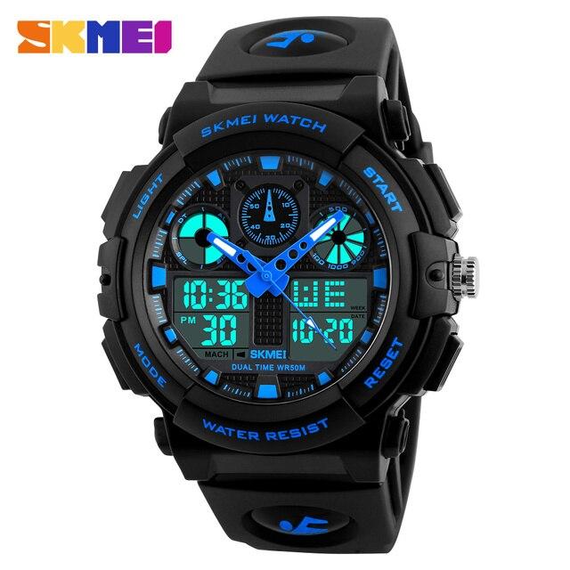 SKMEI Luxury Brand Men Sports Watches Digital Led Men Wristwatches 50m Water Resistant Relogio Masculino Quartz Watch For Man 1