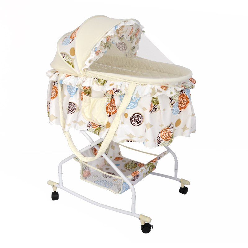 Holycat Multi-function Baby Cradle Car Push Cart Cradle, Folding Sleeping Basket Sunshade, Mosquito Net. baby cradle portable car safety basket multi function coax sleeping basket with mosquito net discharge cart