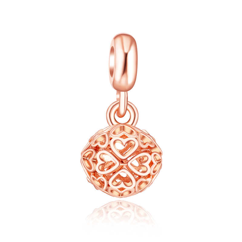 Cristal árbol hueco flor sol mal de ojo de corazón perla simulada cuentas Fit Pandora Charms pulseras para las mujeres de la joyería de DIY