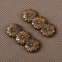 Изящный цветочный узор меч фитинги из сплава Menuki для японских самураев катана или вакизаши или Танто специальные изделия из металла