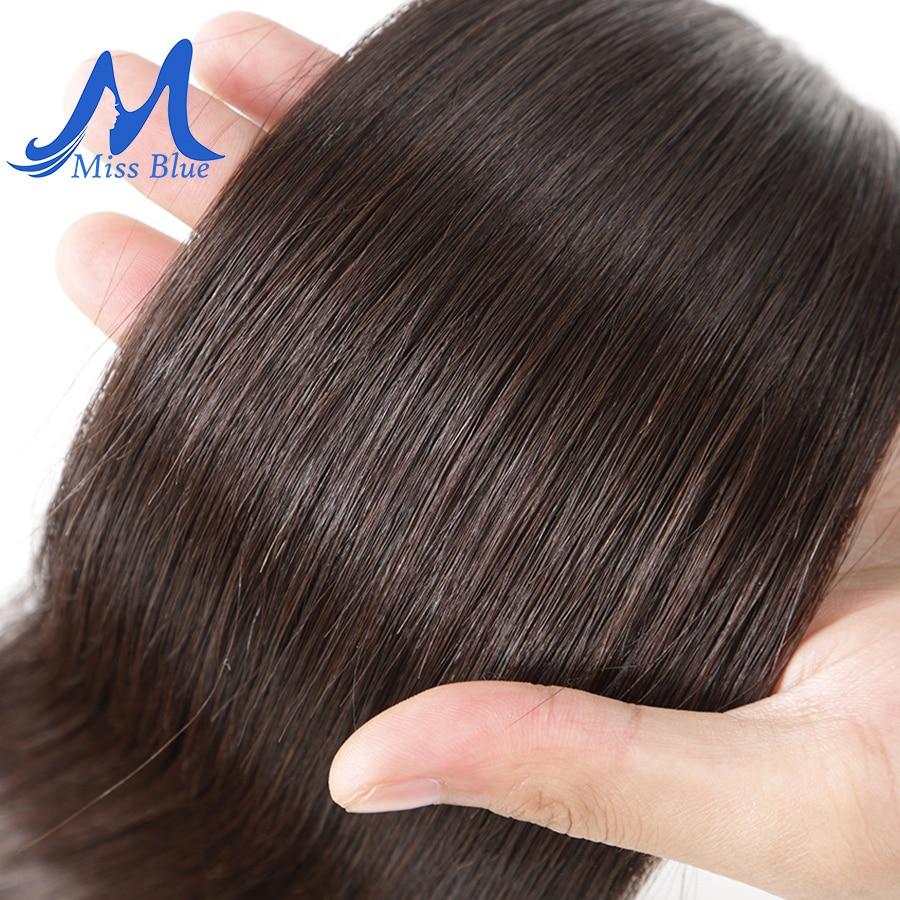 Missblue 10A Mink Quality Brazilian Virgin Hair Bundles Straight Grade 10A Raw Human Hair Weave Bundles Extensions 1 3 4 P/Lots 4