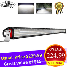 CO LIGHT 52 Led Light Bar 12V 12D 924W LED Work 4-Rows Spot Flood Combo Beams for Offroad Tractor Truck 4x4