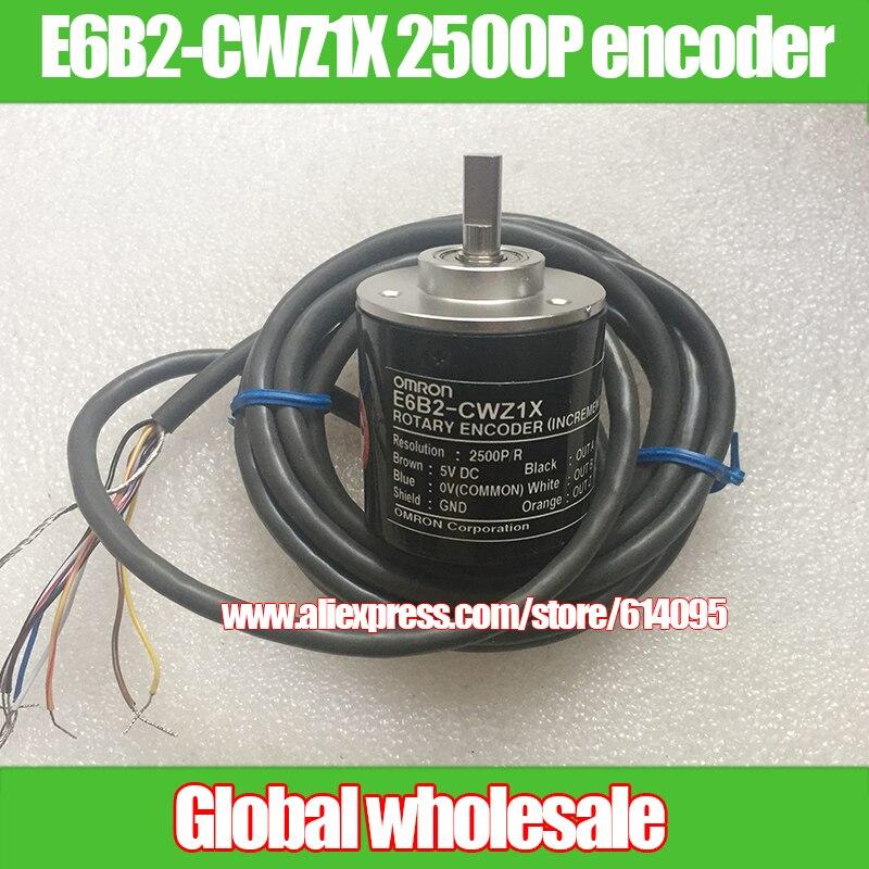1pcs E6B2 CWZ1X 2500P R encoder for Omron high precision rotary encoder 2500 line incremental encoder