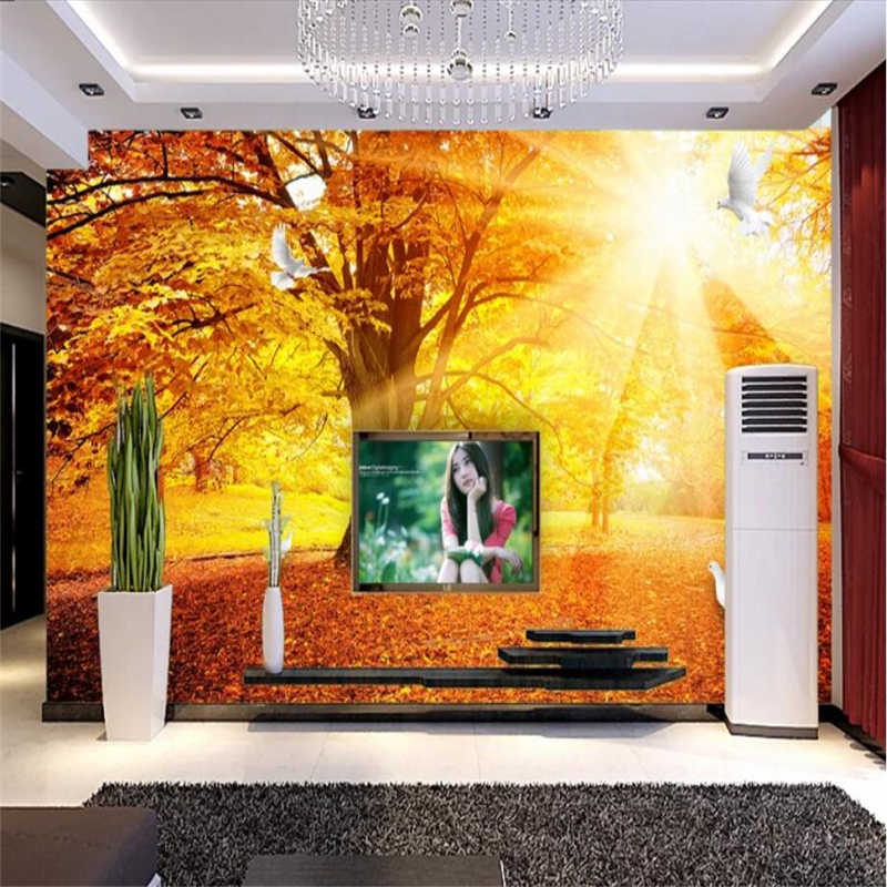 Beibehang пользовательские 3d обои Золото Пол Золотой солнечного света стене бумаги диван гостиная столовая спальня ТВ отделка стен